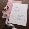 """Einladungskarte """"Schleierkraut"""" mit goldener Heißfolienprägung, Karte mit Umschlag"""