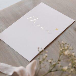 """Postkarte """"Mama"""" mit goldener Heißfolienprägung"""