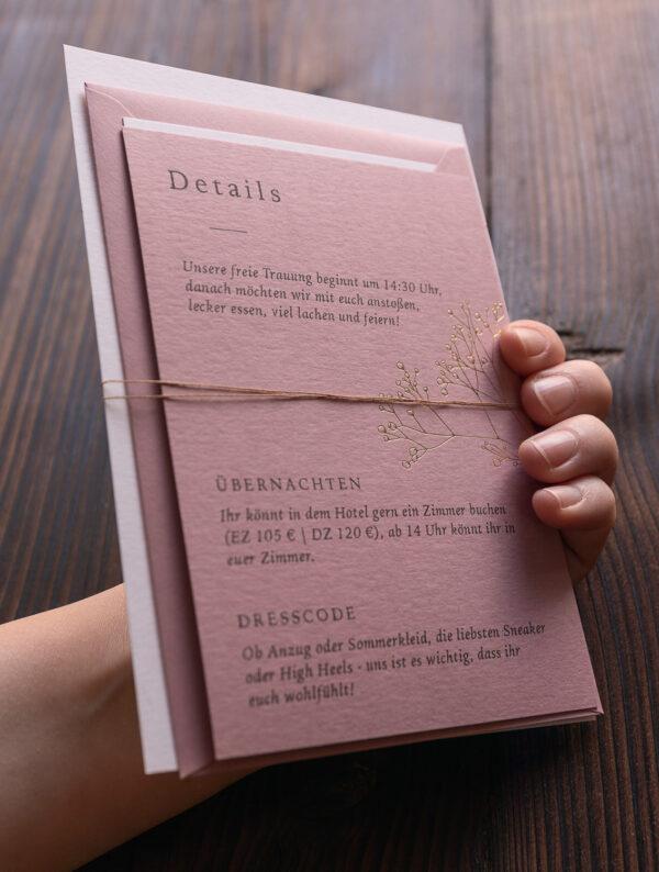 Schleife aus Papiergarn, Set aus mehreren Karten