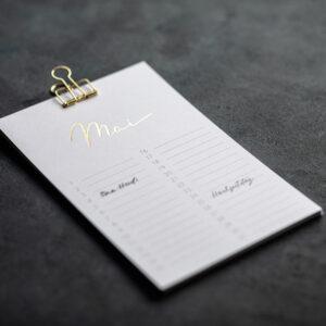 Geburtstagskalender mit goldener Heißfolienprägung, ewiger Kalender, Monat Mai, glänzend