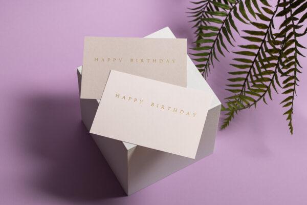 goldverliebt Karte happy birthday Übersicht