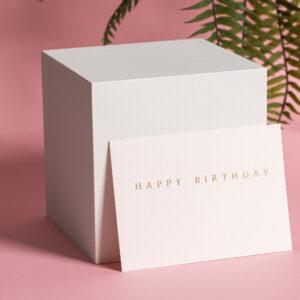 goldverliebt Karte happy birthday puder