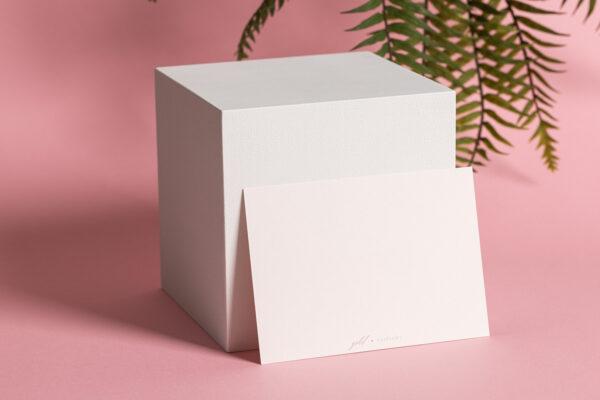 goldverliebt Karte puder Querformat Rückseite rosa Hintergrund
