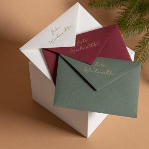 Briefumschläge Weihnachten